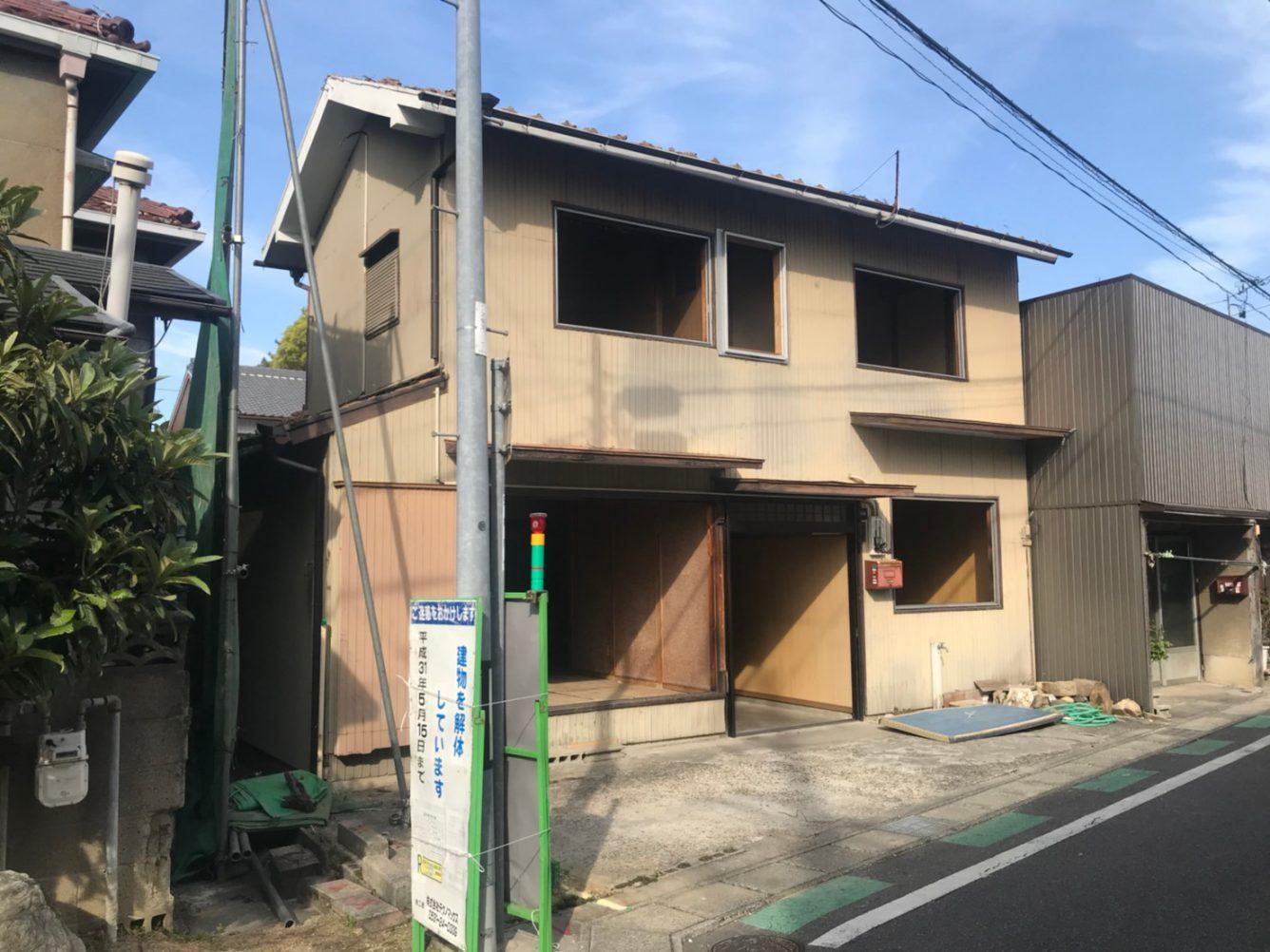 木造瓦葺2階建住宅解体工事・愛知県安城市昭和町