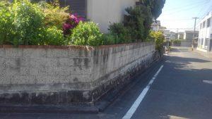 コンクリートブロック塀撤去工事・愛知県知多市にしの台