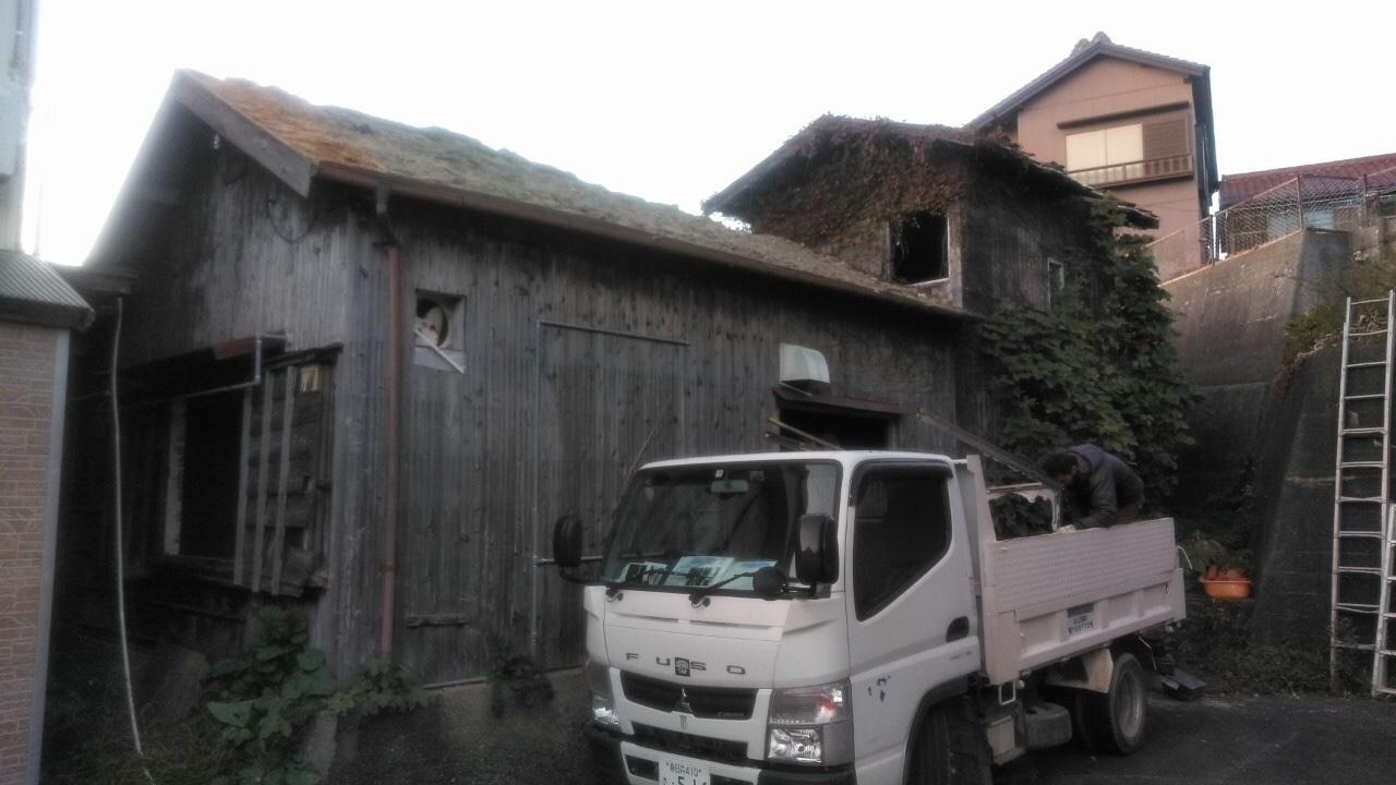 木造瓦葺建物解体工事・知多郡南知多町豊浜